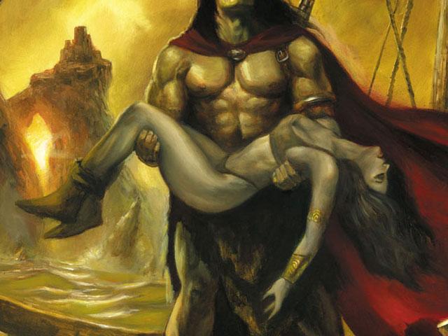 Conan: death of Belit (commission painting)