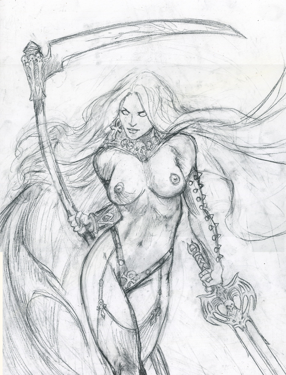 Lady-death-pencil