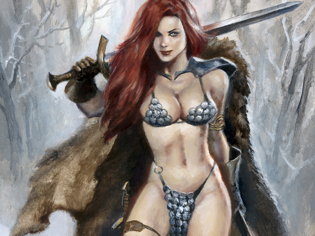 Red Sonja (commission painting)