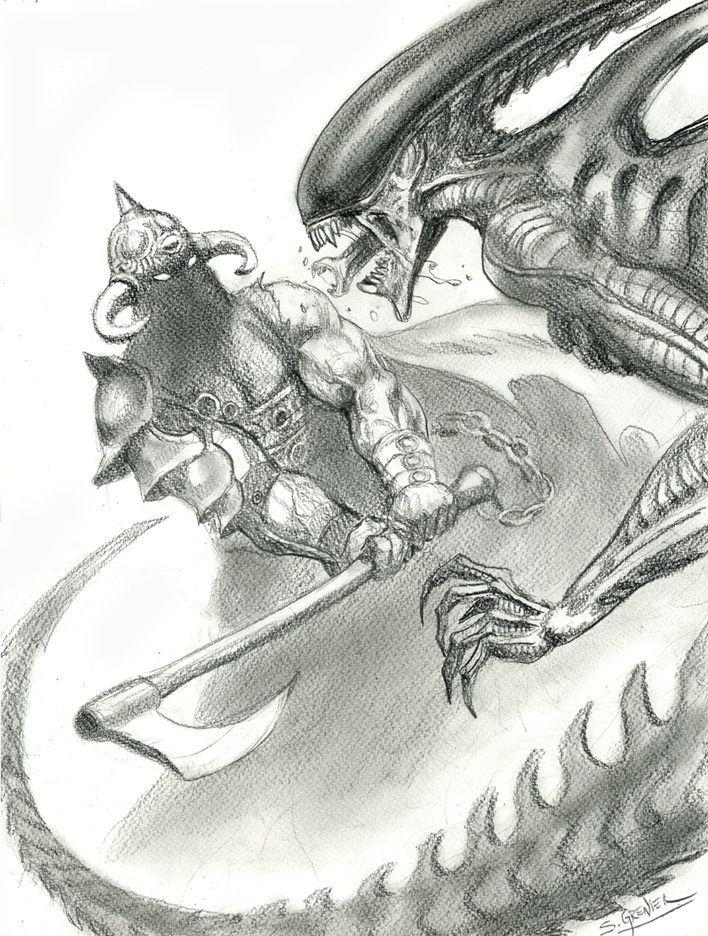 Death-Dealer-VS-Alien