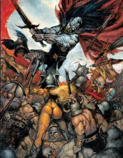 ARAWN-Battle rage (tome 3)Acrylique sur papier 400g 570 Euros
